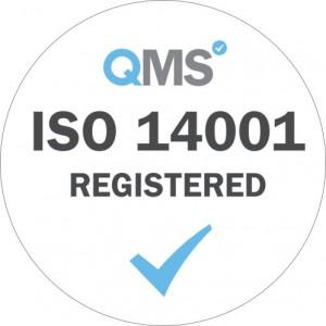 iso 14001 logo white