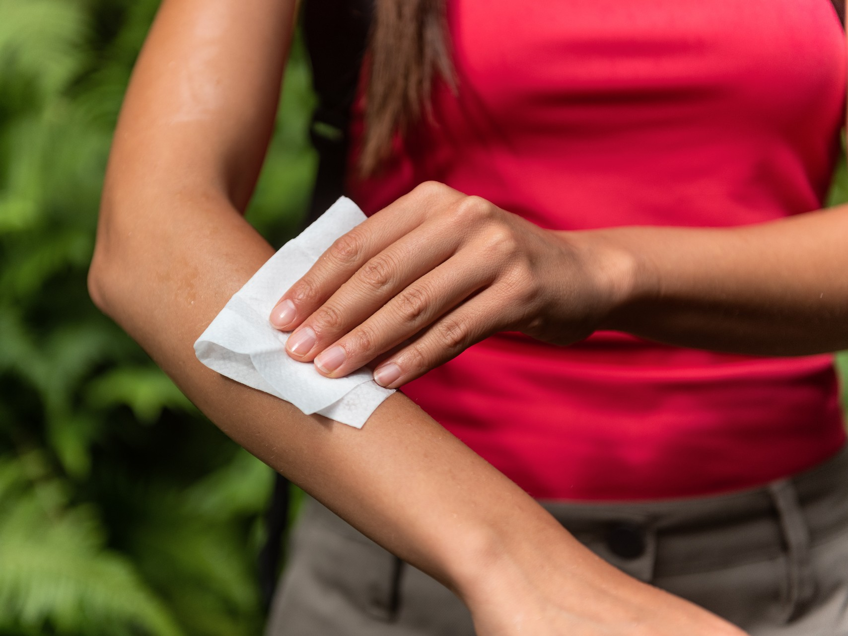 An image depicting insect repellent wipes, we also offer suncream sachets as well.