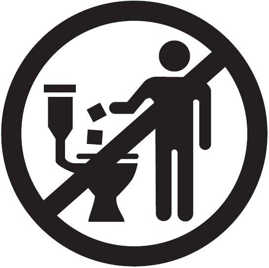 Don't flush wet wipes